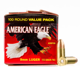Image For 100 Rounds Of 115 Grain FMJ Boxer Brass 9mm Federal Ammunition
