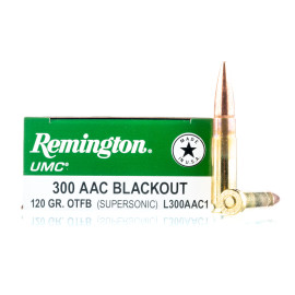 Image For 200 Rounds Of 120 Grain Open Tip Boxer Brass 300 Blackout Remington Ammunition