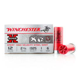Image For 250 Rounds Of 1 oz. #6 Shot 12 Gauge Winchester Ammunition