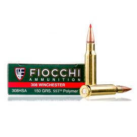 Image For 20 Rounds Of 150 Grain SST Boxer Brass 308 Win Fiocchi Ammunition