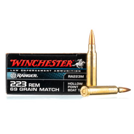 Image For 20 Rounds Of 69 Grain HPBT Boxer Brass 223 Rem Winchester Ammunition