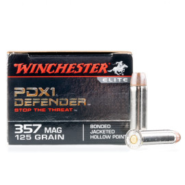 Image For 20 Rounds Of 125 Grain JHP Boxer Nickel-Plated Brass 357 Magnum Winchester Ammunition