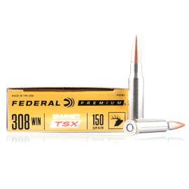 Image For 20 Rounds Of 150 Grain TSX Boxer Brass 308 Win Federal Ammunition