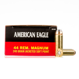 Image For 50 Rounds Of 240 Grain JSP Boxer Brass 44 Magnum Federal Ammunition