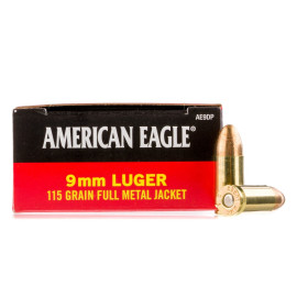 Image For 50 Rounds Of 115 Grain FMJ Boxer Brass 9mm Federal Ammunition