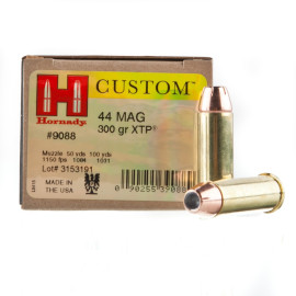Image For 20 Rounds Of 300 Grain JHP Boxer Brass 44 Magnum Hornady Ammunition