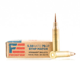 Image For 20 Rounds Of 75 Grain HPBT Boxer Brass 5.56x45 Hornady Ammunition