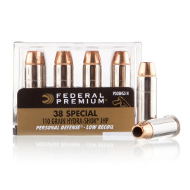 Image For 200 Rounds Of 110 Grain JHP Boxer Nickel-Plated Brass 38 Special Federal Ammunition