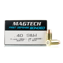 Image For 50 Rounds Of 180 Grain JHP Boxer Brass 40 Cal Magtech Ammunition