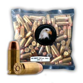 Image For 1000 Rounds Of 180 Grain PFP Boxer Brass 40 Cal MBI Ammunition