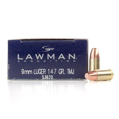 Speer 9mm Ammo - 1000 Rounds of 147 Grain TMJ Ammunition