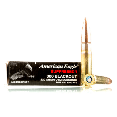 Federal American Eagle Subsonic 300 AAC Blackout Ammo - 500 Rounds of 220  Grain OTM Ammunition