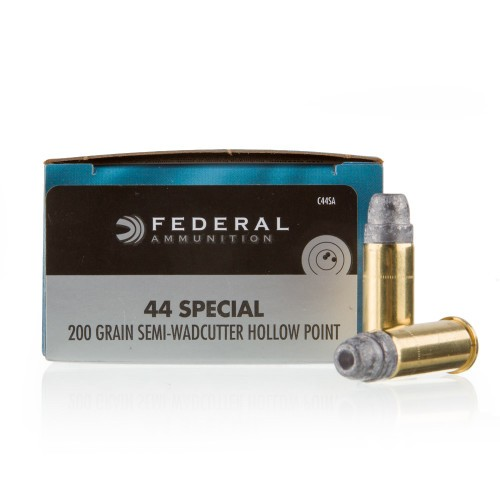 Federal 44 S&W Special Ammo - 20 Rounds of 200 Grain LSWCHP Ammunition