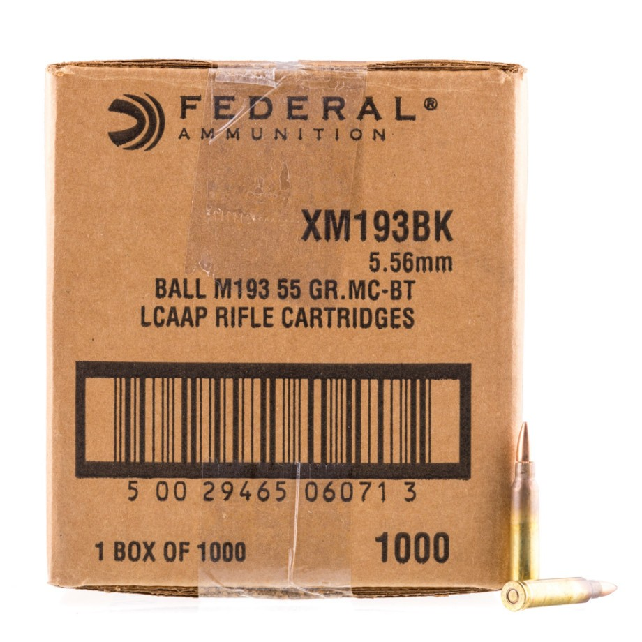 1000 Rounds Of 5.56x45 Rifle Ammo From Federal