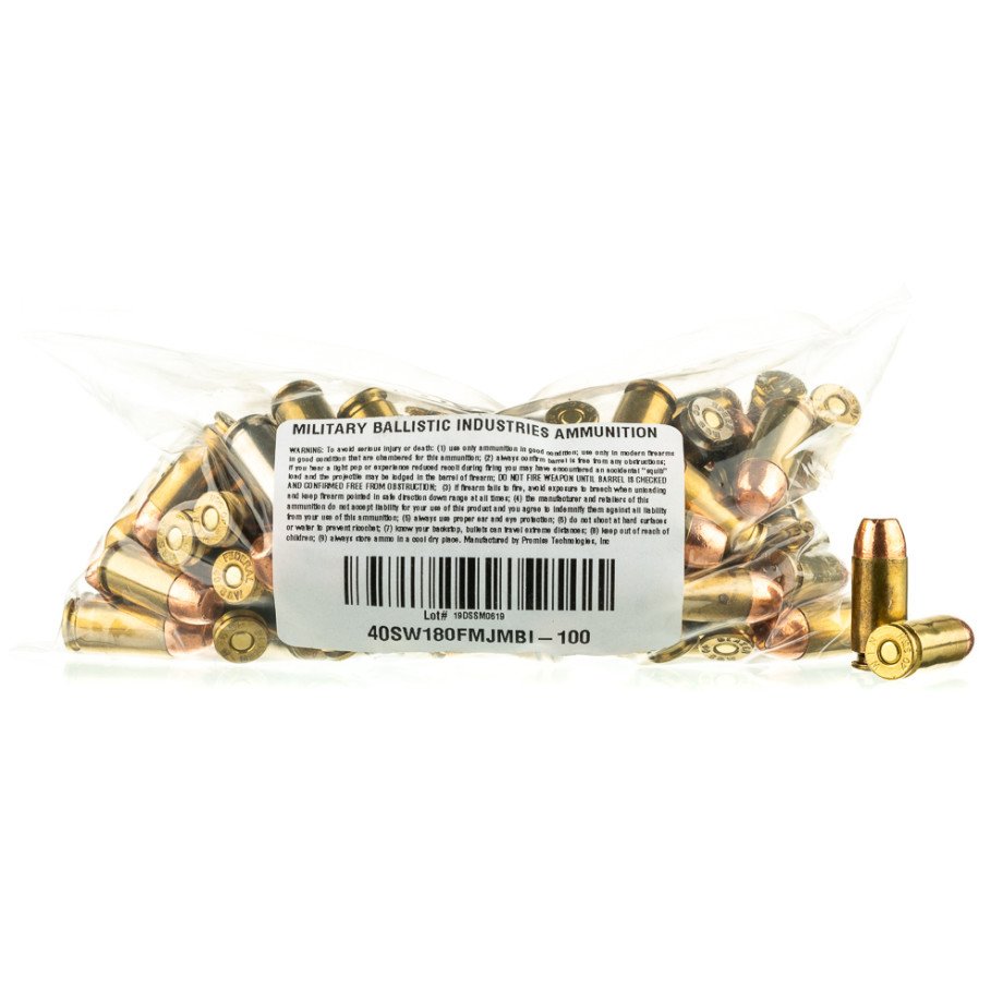 1000 Rounds Of 40 Cal Handgun Ammo From MBI