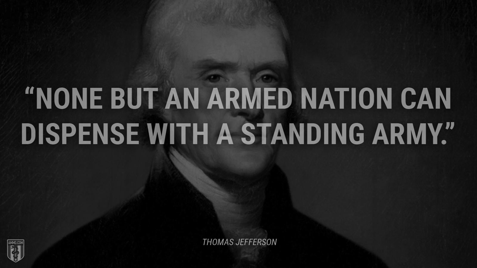"""None but an armed nation can dispense with a standing army."" - Thomas Jefferson"