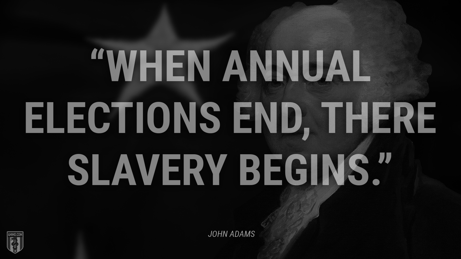 """""""When annual elections end, there slavery begins."""" - John Adams"""