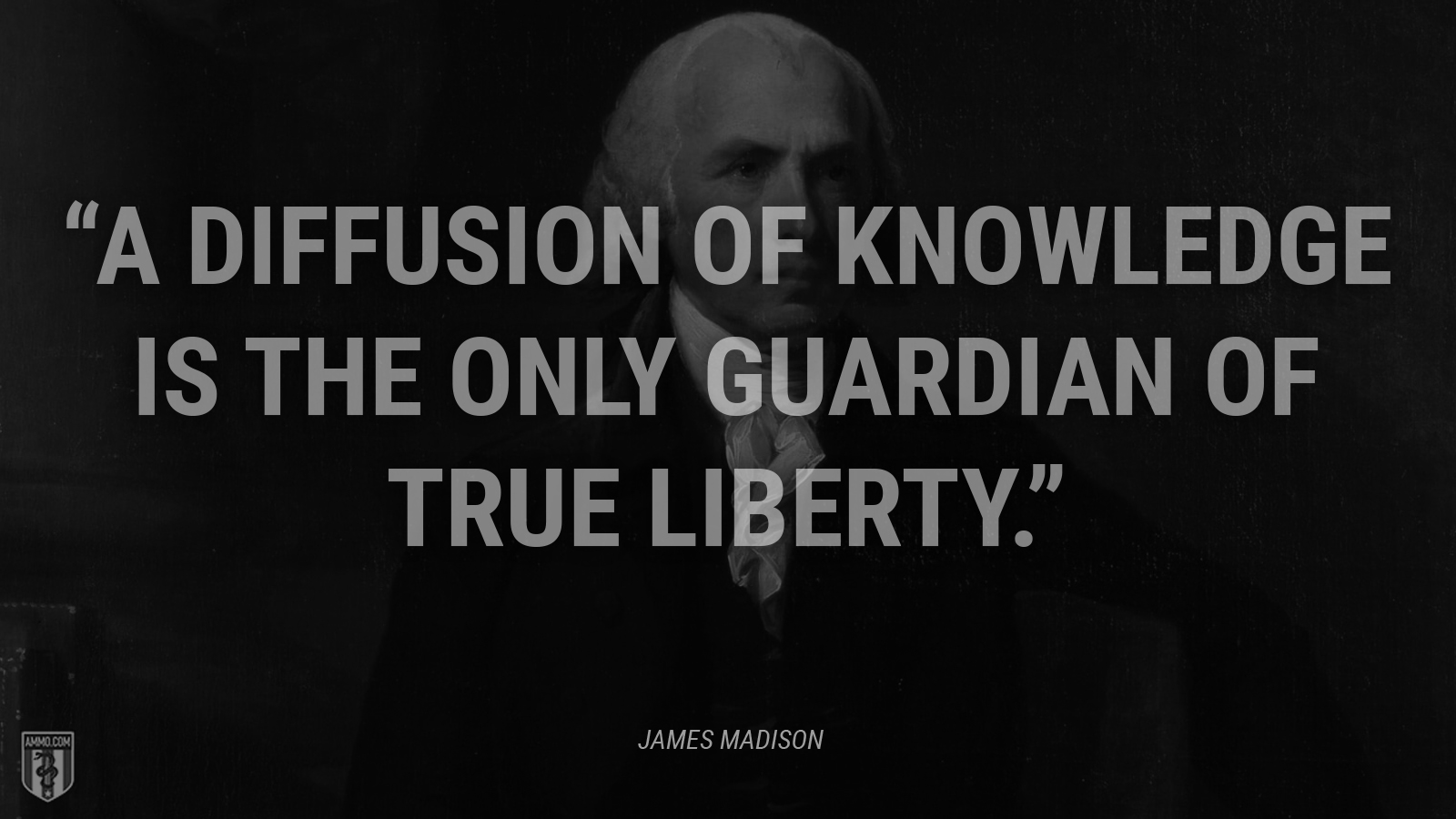 """A diffusion of knowledge is the only guardian of true liberty."" - James Madison"