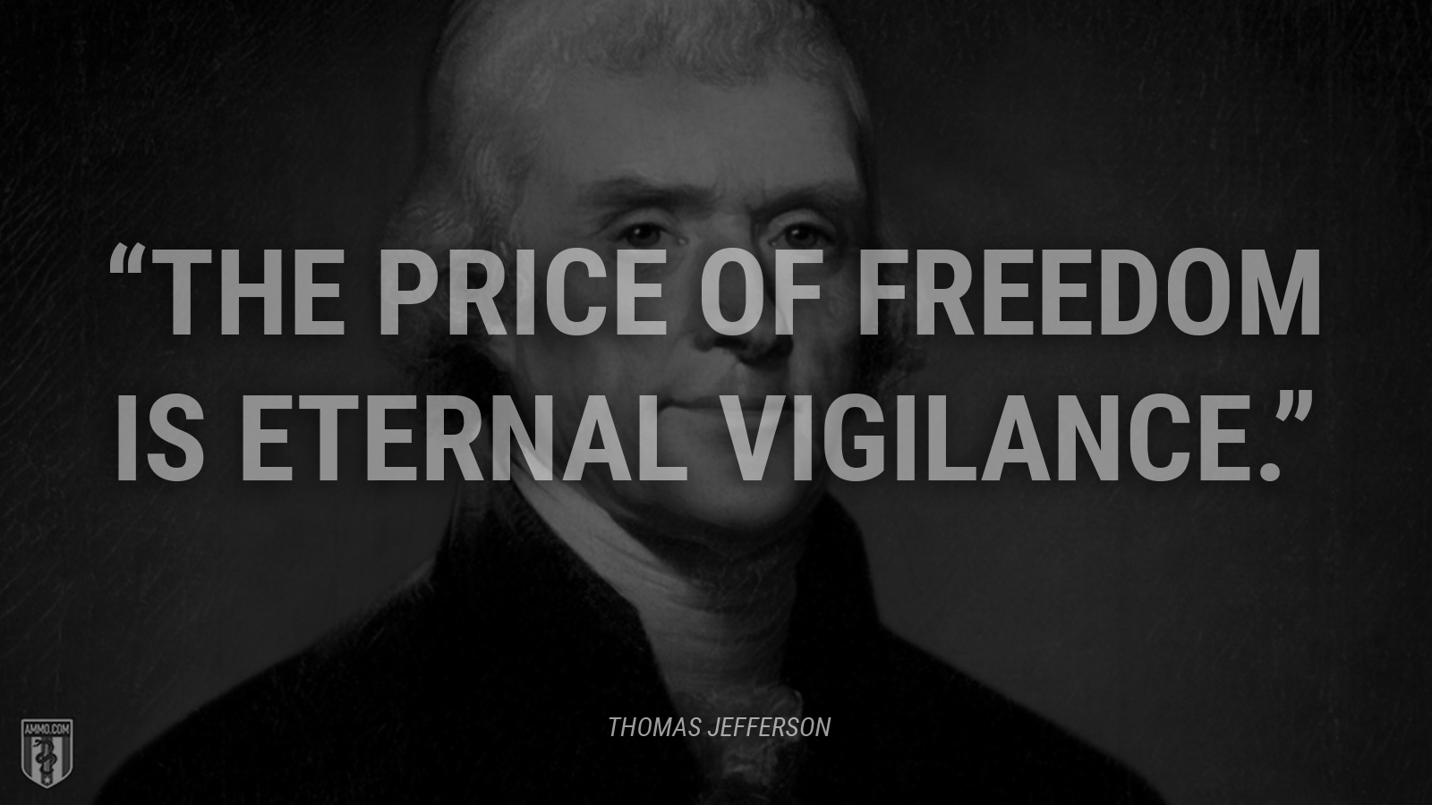 """The price of freedom is eternal vigilance."" - Thomas Jefferson"