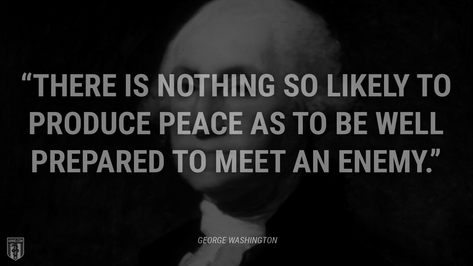 """There is nothing so likely to produce peace as to be well prepared to meet an enemy."" - George Washington"