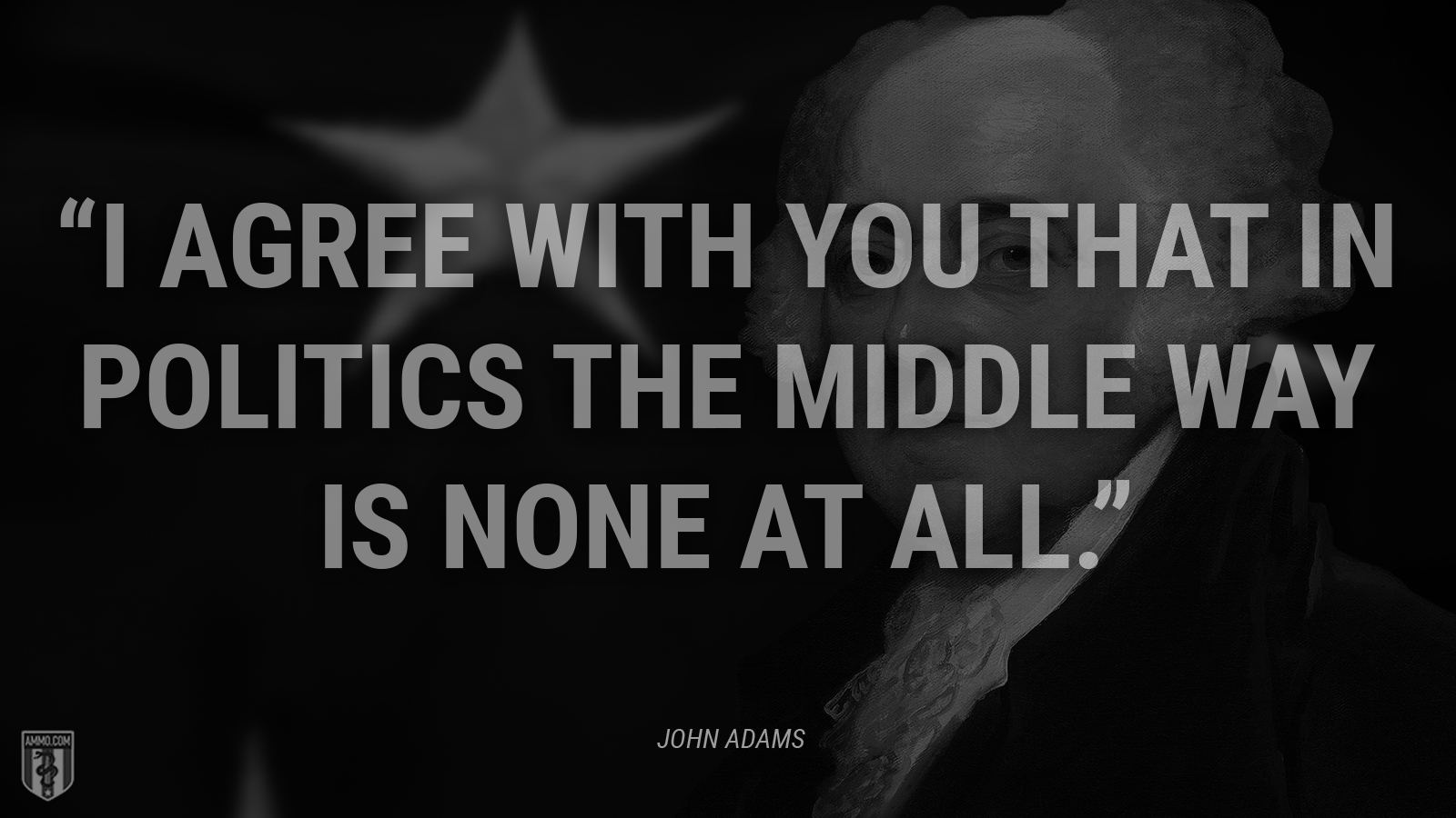 """I agree with you that in politics the middle way is none at all."" - John Adams"