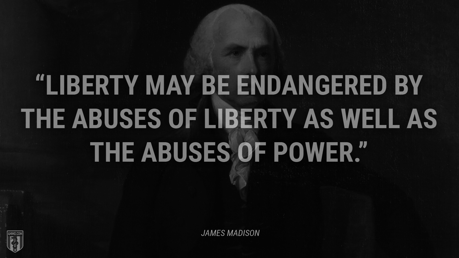 """Liberty may be endangered by the abuses of liberty as well as the abuses of power."" - James Madison"