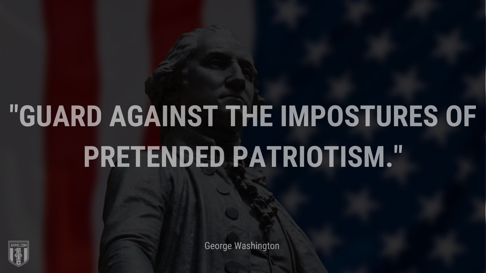 """Guard against the impostures of pretended patriotism."" - George Washington"