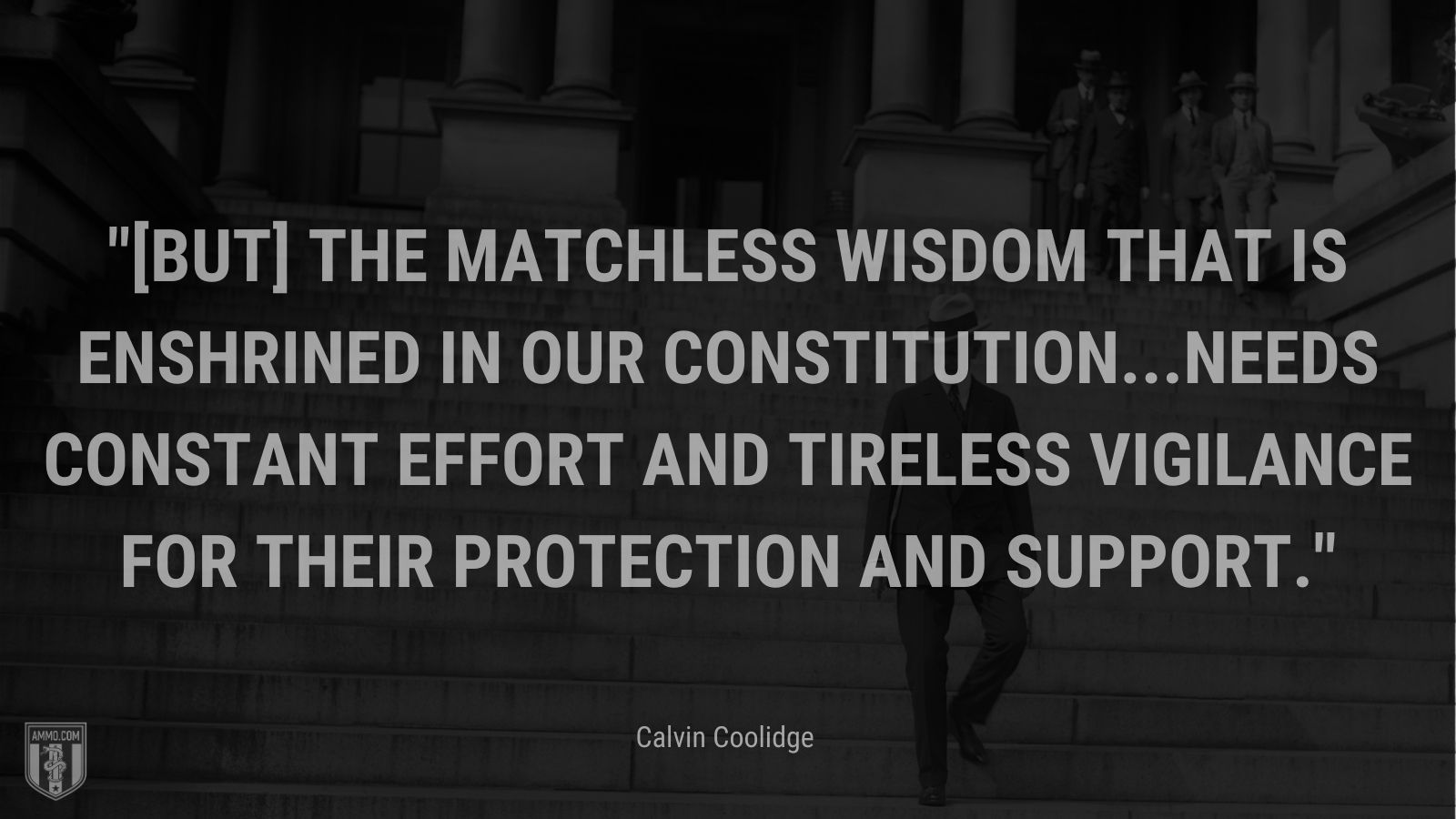 """""""[But] the matchless wisdom that is enshrined in our Constitution...needs constant effort and tireless vigilance for their protection and support."""" - Calvin Coolidge"""