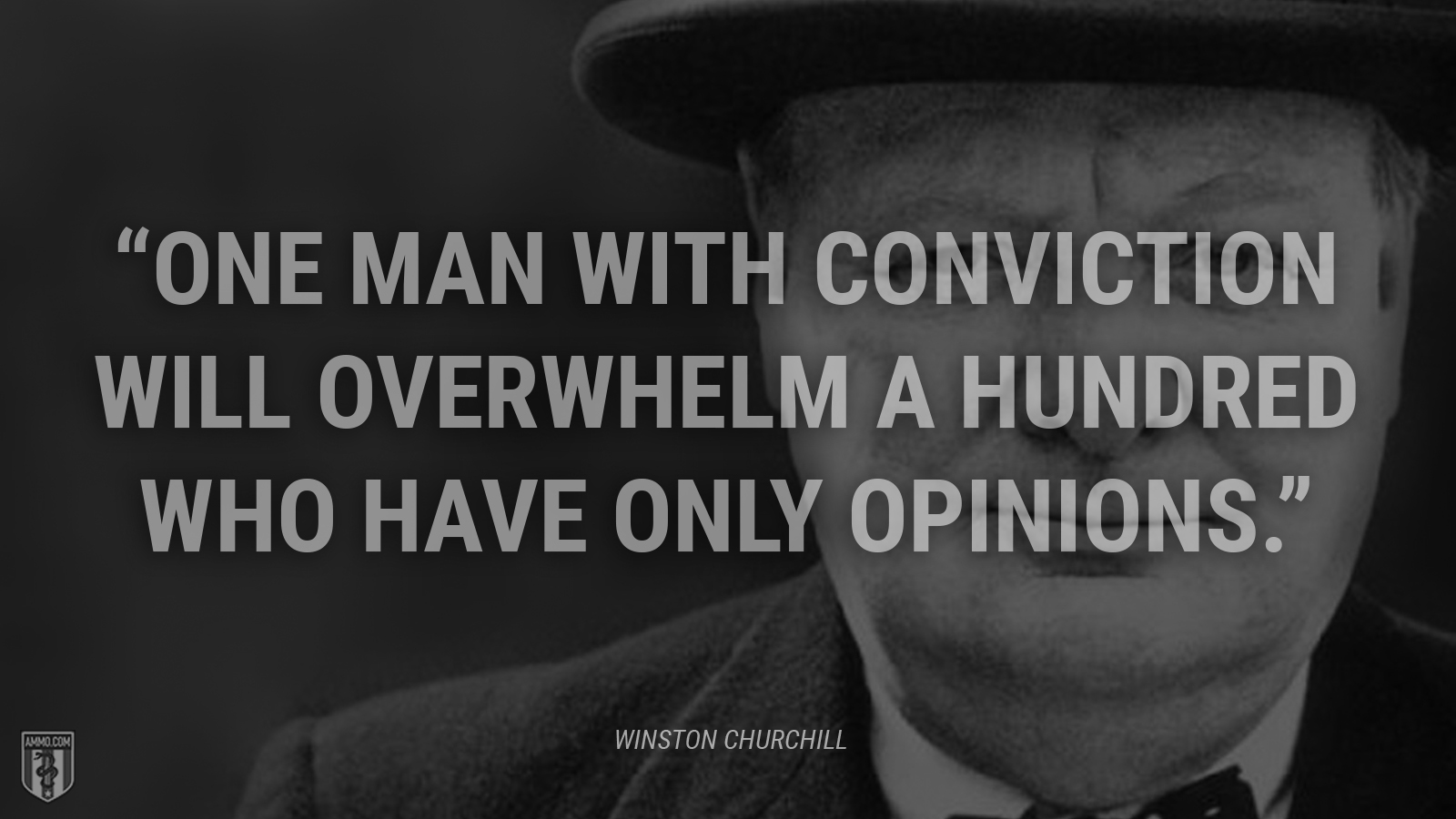 """One man with conviction will overwhelm a hundred who have only opinions."" - Winston Churchill"