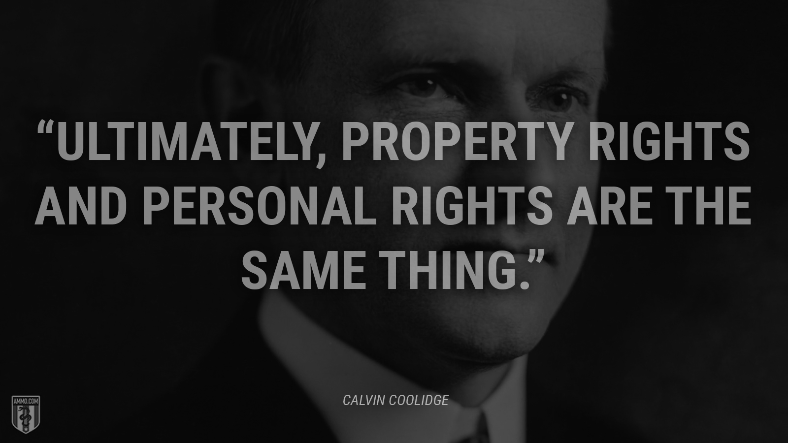 """Ultimately, property rights and personal rights are the same thing."" - Calvin Coolidge"