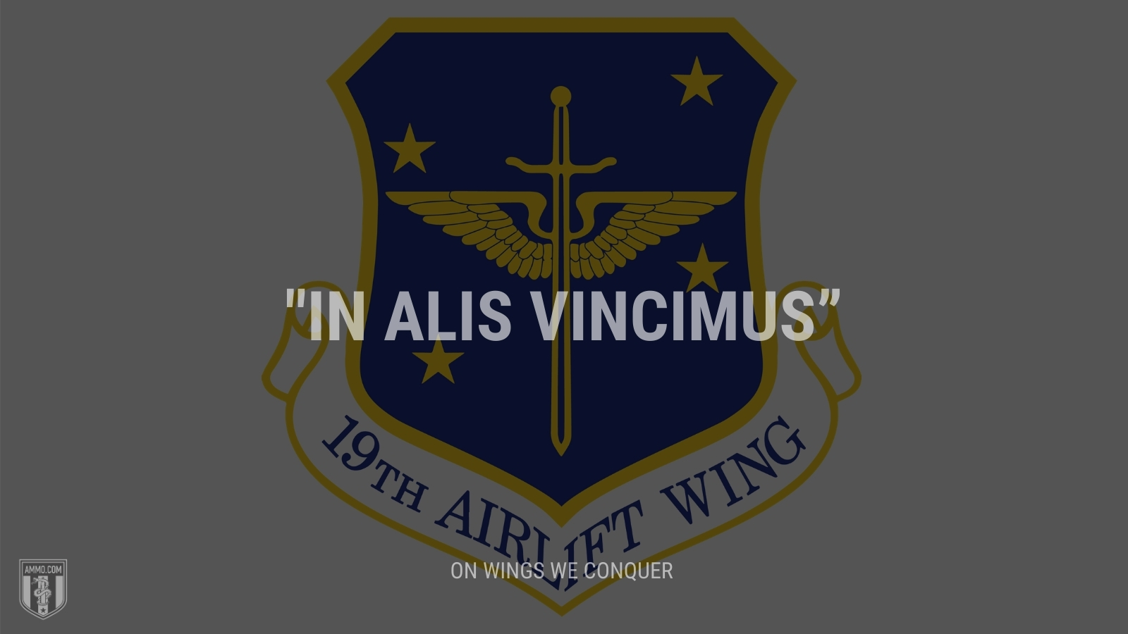 """""""In alis vincimus"""" - On wings we conquer"""