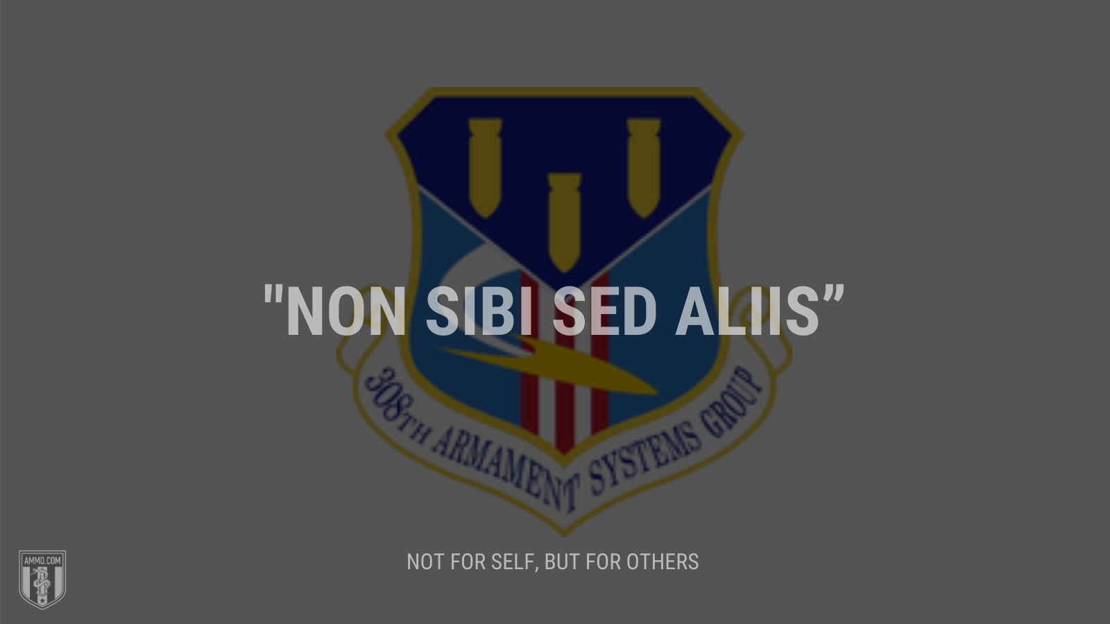 """""""Non sibi sed aliis"""" - Not for self, but for others"""