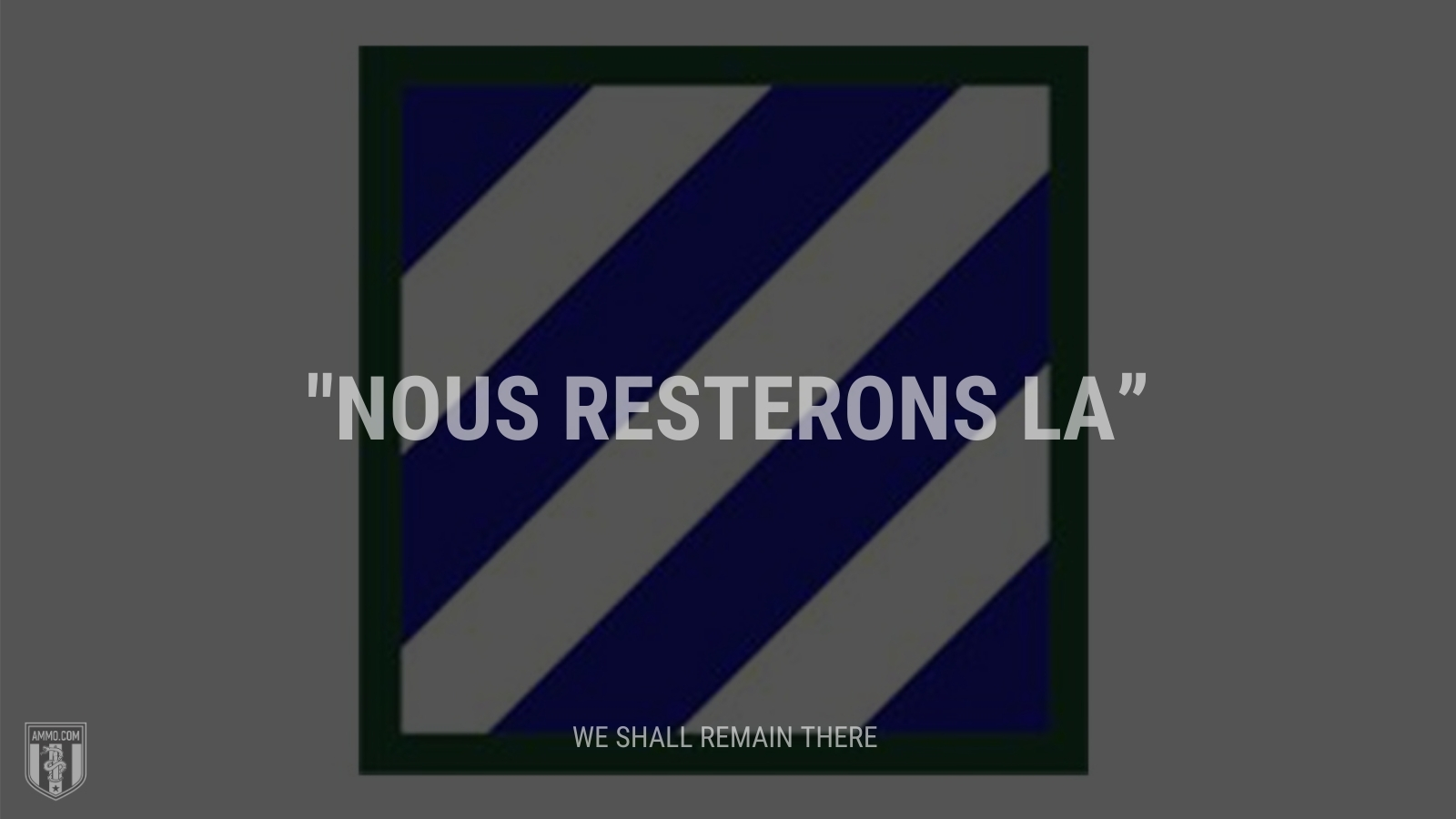 """""""Nous resterons la"""" - We shall remain there"""