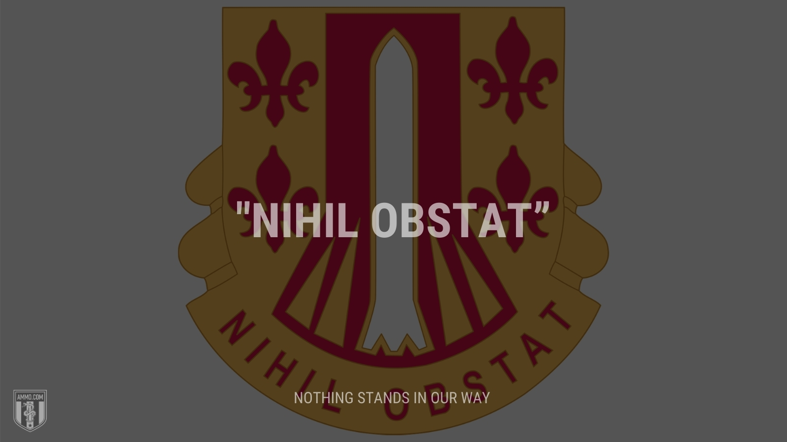 """""""Nihil obstat"""" - Nothing stands in our way"""
