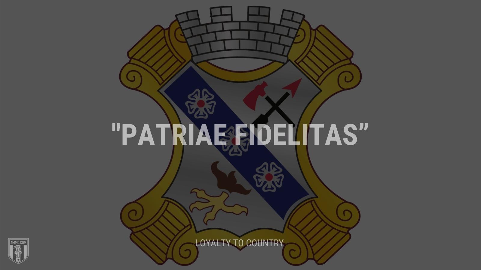 """Patriae fidelitas"" - Loyalty to country"