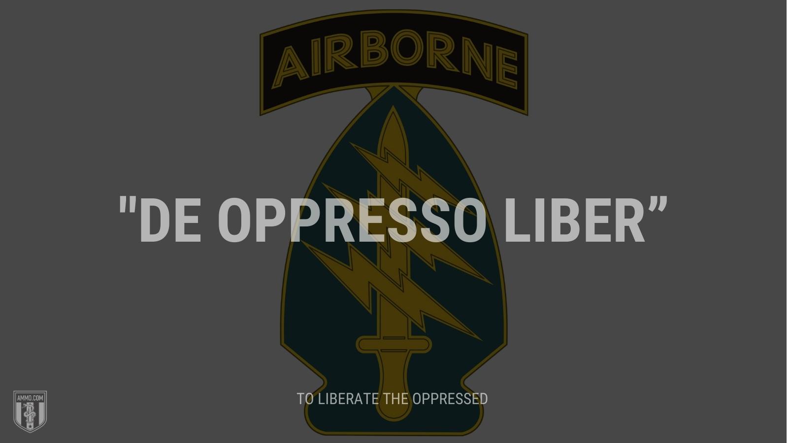 """""""De oppresso liber"""" - To liberate the oppressed"""