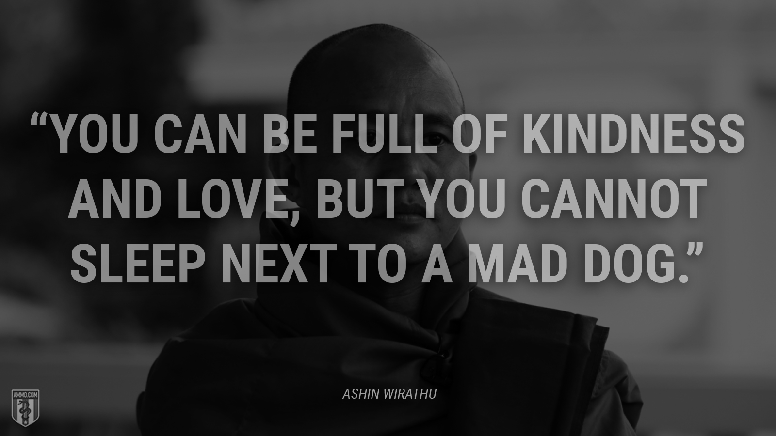 """You can be full of kindness and love, but you cannot sleep next to a mad dog."" - Ashin Wirathu"