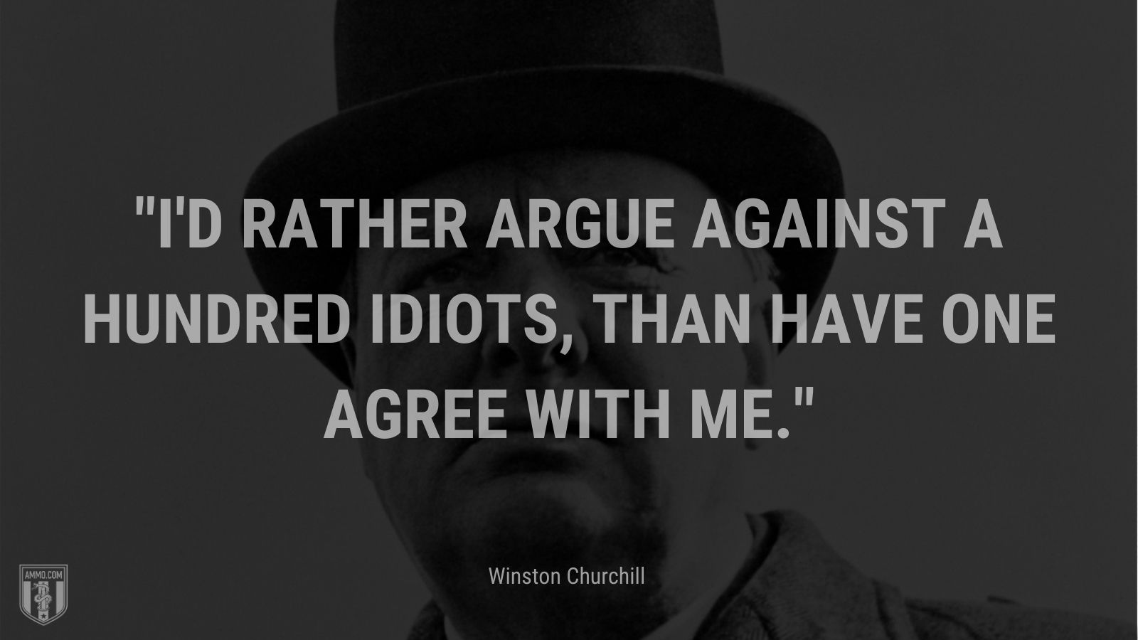 I'd rather argue against a hundred idiots, than have one agree with me.